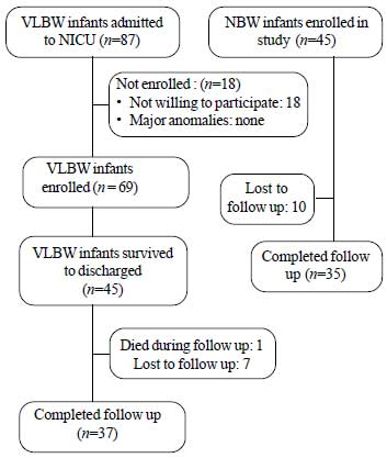 Growth and Neurodevelopmental Outcome of VLBW Infants at 1